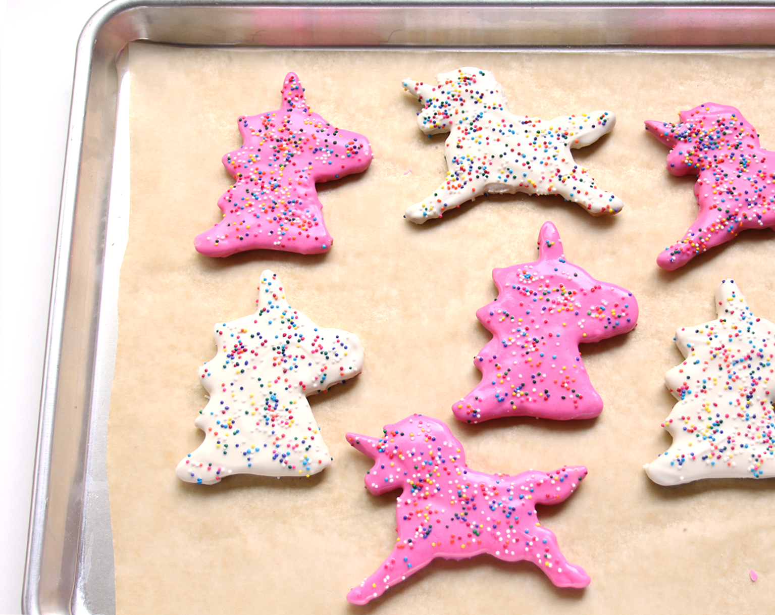 Baking unicorn cookies