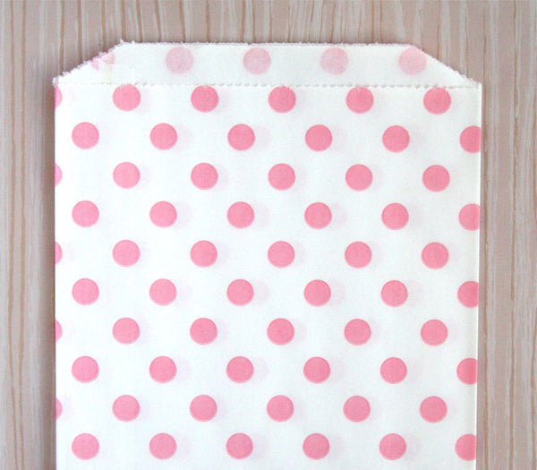 Pink Polka Dot Bags - Large
