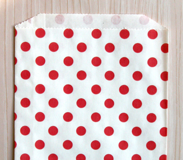 Red Polka Dot Bags - Large