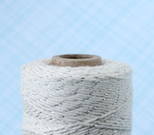 Platinum Shimmer Baker's Twine, Cotton and Silver