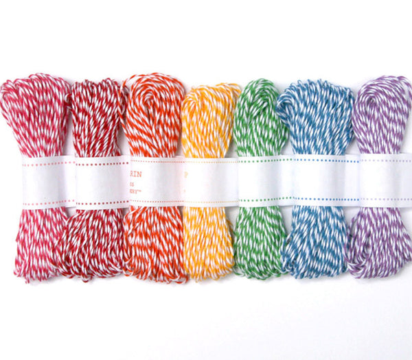 Rainbow Mix Baker's Twine - 7 Colors (105 yards)