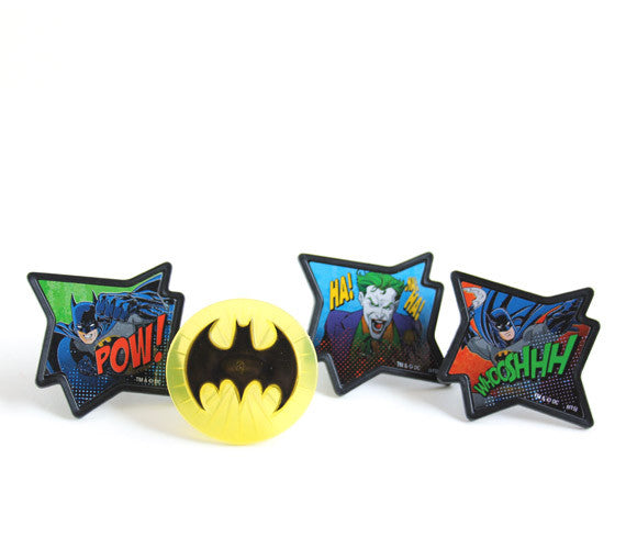Batman Cupcake Rings