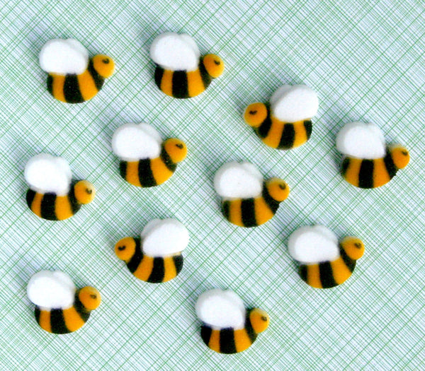 bee edible sugar cake decorations