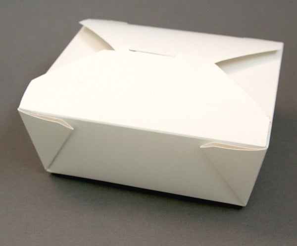 White Take Out Box - Medium