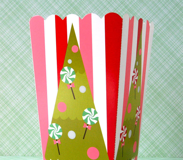 Retro Christmas Tree Treat Boxes