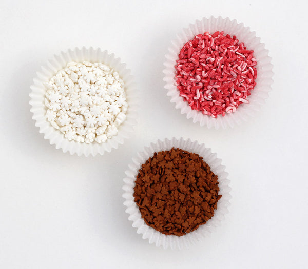 Christmas Mix Sprinkles - Snowflakes, Candy Canes, Gingerbread Men