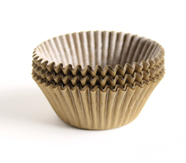 Matte Gold Cupcake Liners