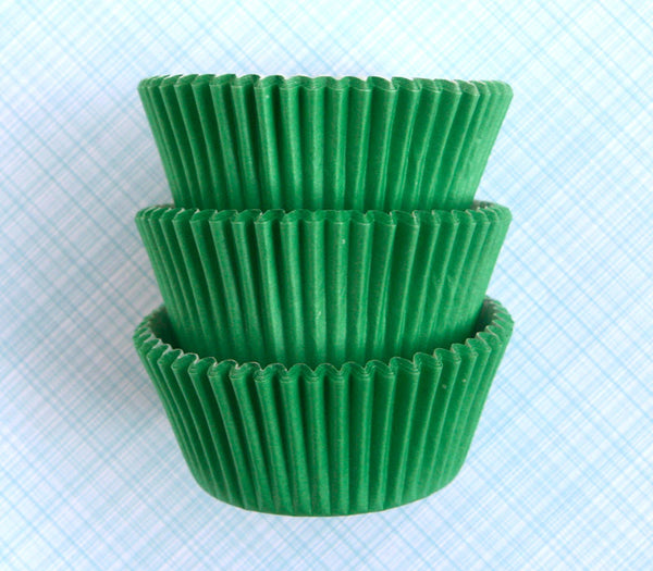 Green Cupcake Liners / Designer Green Baking Cups