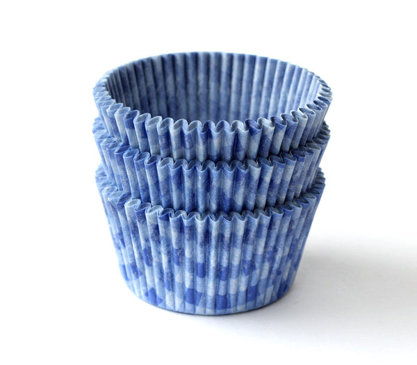 Blue Plaid Cupcake Liners
