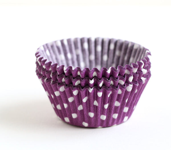 Purple Polka Dot Cupcake Liners