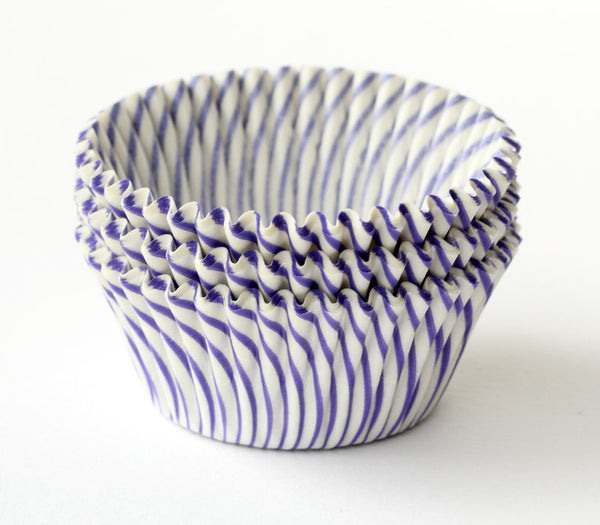 Purple Stripe Cupcake Liners