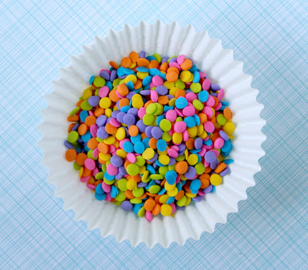Neon confetti quins sweet estelle 39 s baking supply for Decorating quins