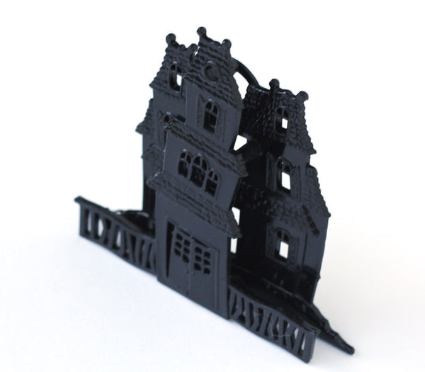 Haunted House Cake Topper for Halloween, side view
