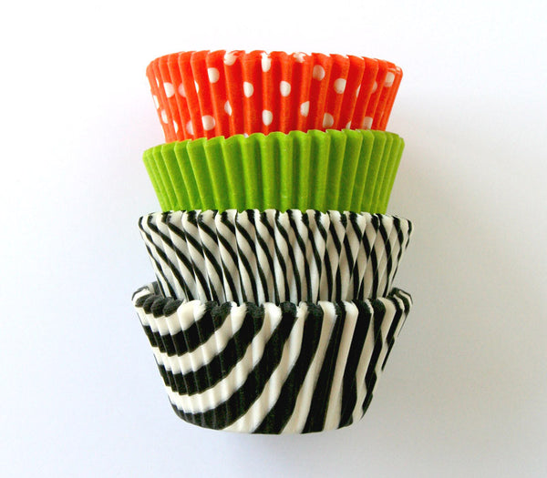 Halloween Mix Cupcake Lines in Orange, Black and Lime