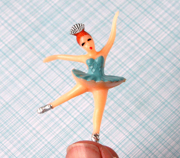 SALE: Blue Ballerina Cupcake Toppers