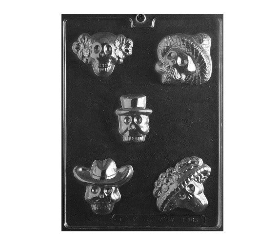 Day of the Dead Chocolate Mold, Dia de los Muertos Chocolate Mold