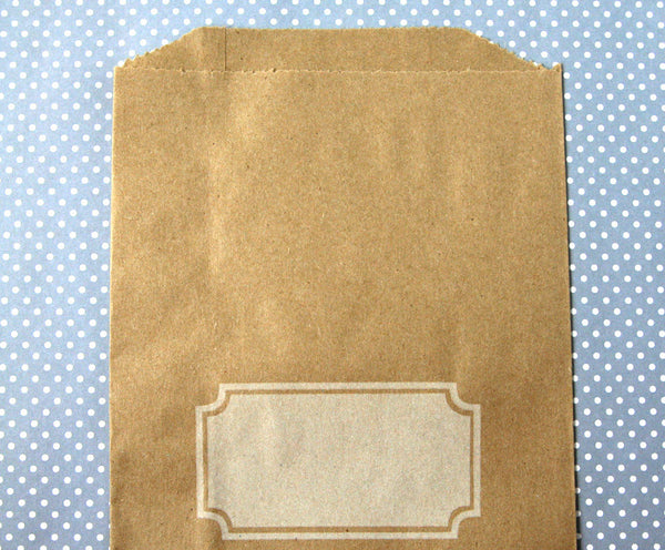 kraft favor bag treat bag