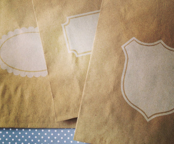 Kraft Paper Bags - Notched Box