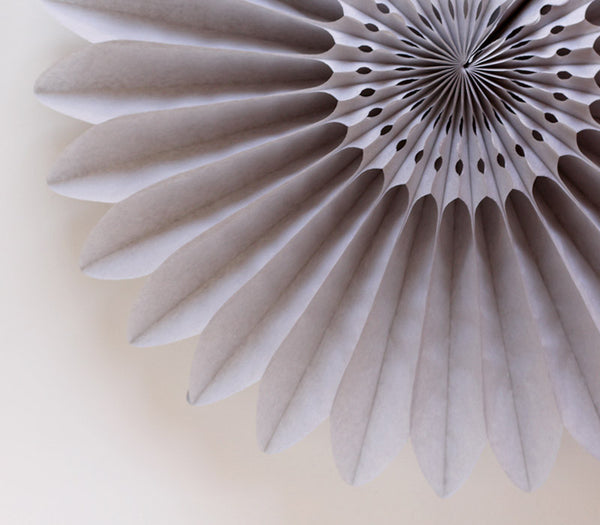 Gray Honeycomb Flower Fan