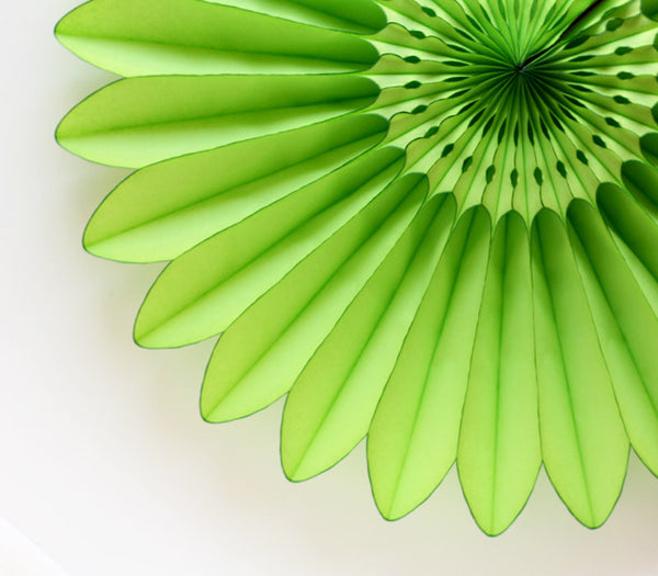 Green Honeycomb Tissue Flower Fan