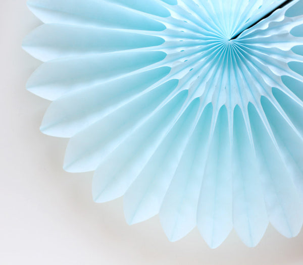 Light Blue Honeycomb Flower Fan