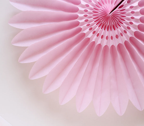 Light Pink Honeycomb Flower Fan
