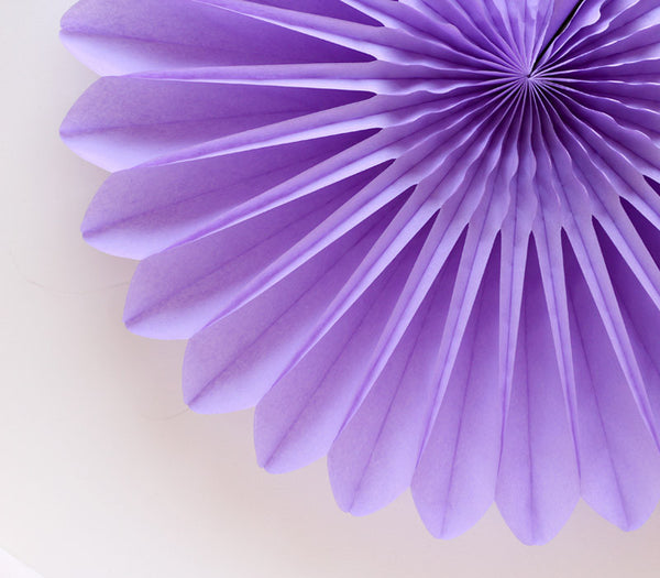 Purple Honeycomb Flower Fan