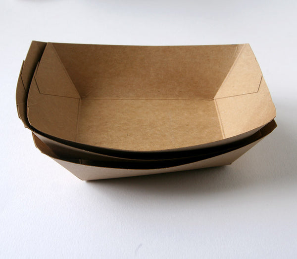 Kraft Paper Food Trays - Bulk Quantity