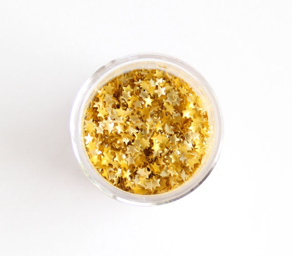 Edible gold star glitter