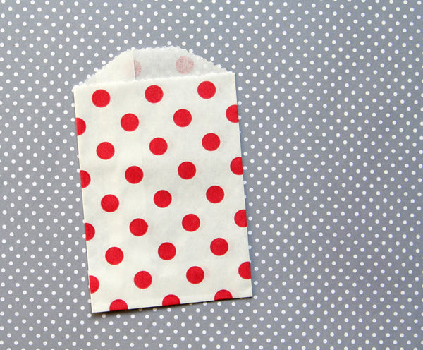 Red Polka Dot Bags - Small