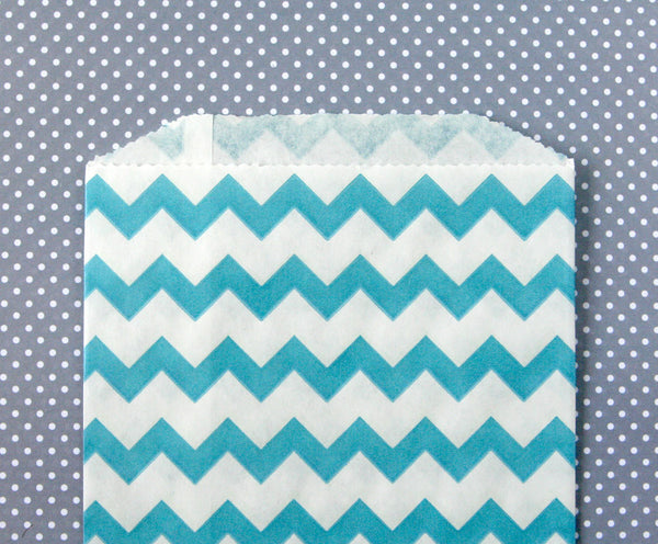 Blue Chevron Bags
