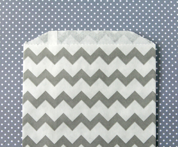 Gray Chevron Bags