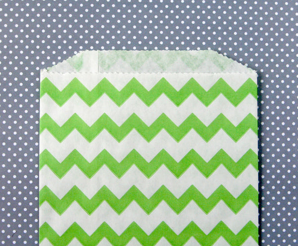 Green Chevron Bags