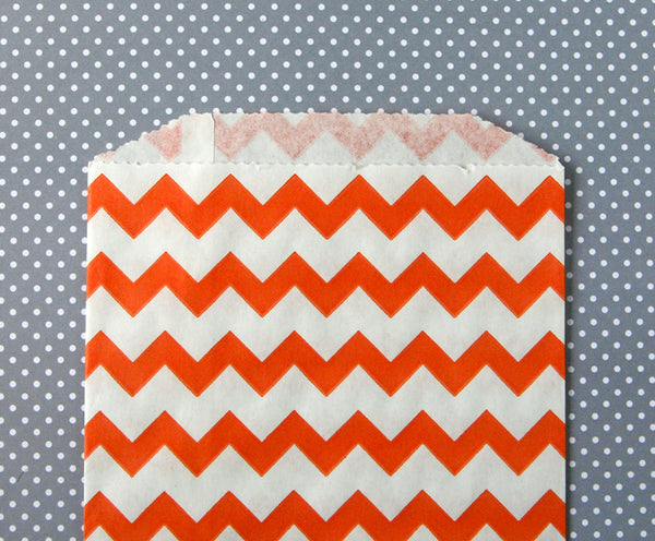 Orange Chevron Bags