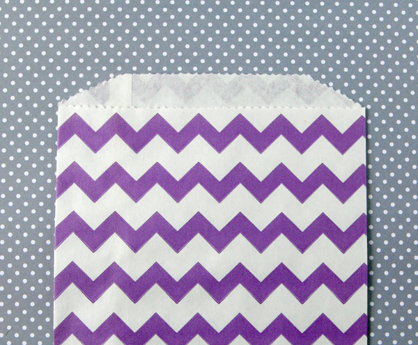 Purple Chevron Bags