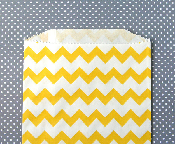 Yellow Chevron Bags