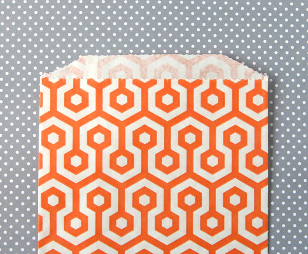 Orange Honeycomb Bags