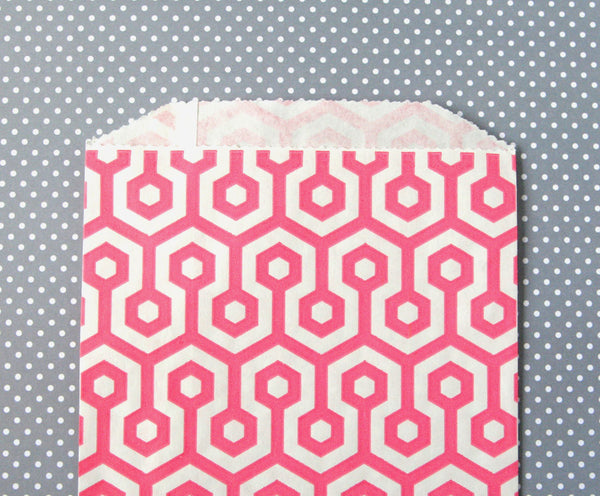 Pink Honeycomb Bags