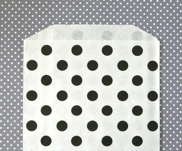 Black Polka Dot Bags