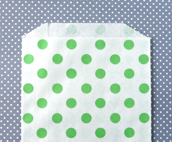 Green Polka Dot Bags