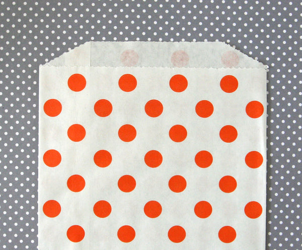 Orange Polka Dot Bags