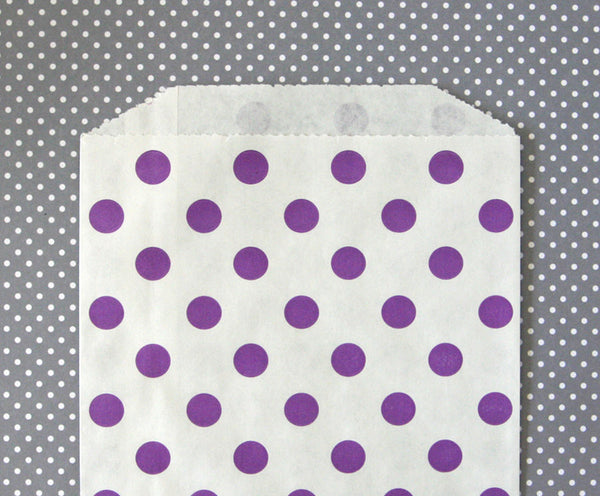 Purple Polka Dot Bags