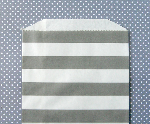 Gray Horizontal Stripe Bags