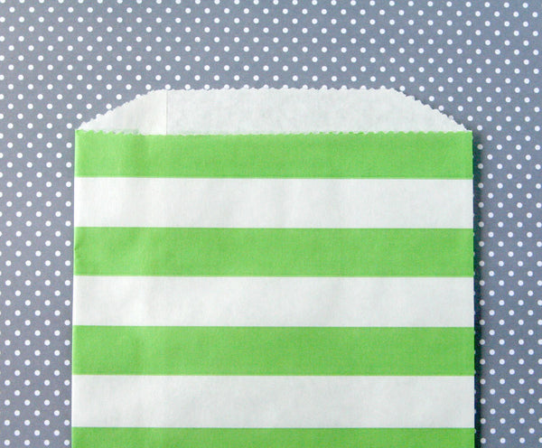 Green Horizontal Stripe Bags
