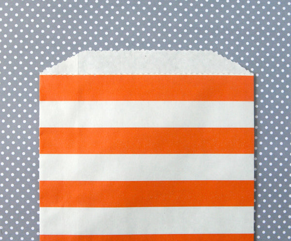 Orange Horizontal Stripe Bags