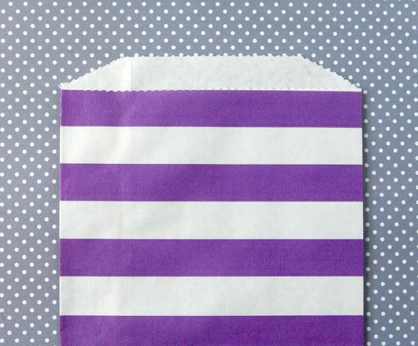 Purple Horizontal Stripe Bags