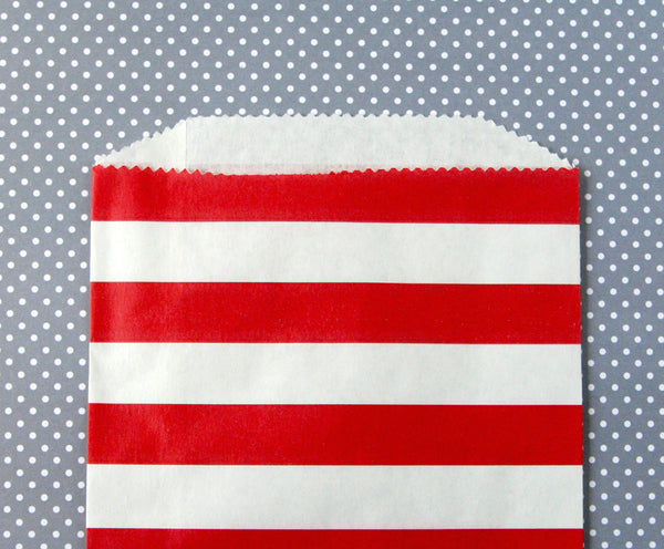 Red Horizontal Stripe Bags