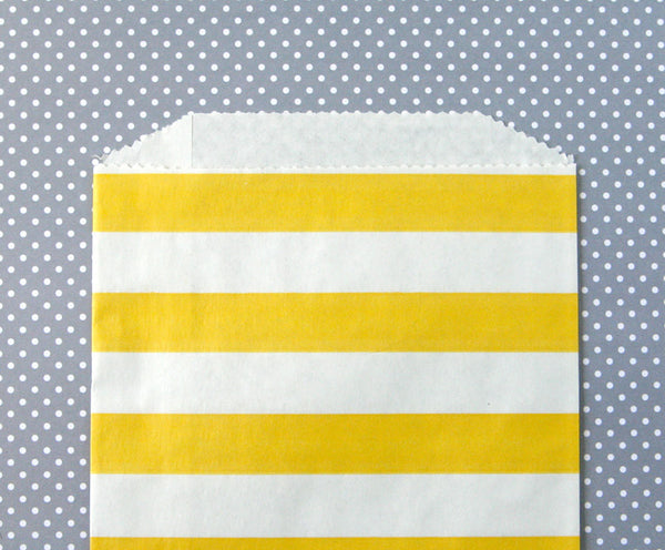 Yellow Horizontal Stripe Bags