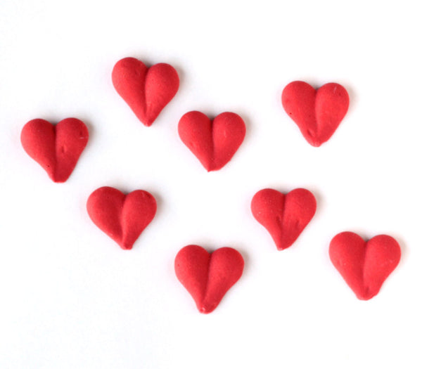 Red Icing Heart Decorations