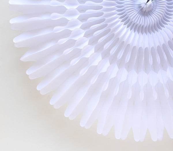 White Honeycomb Fan